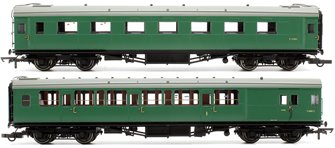 BR (SR) ex-Maunsell Pull-Push Set 602 (Comprising Coach No.1318 and No.6681)