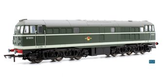 RailRoad Class 31 'D5551' BR Green AIA-AIA Diesel Locomotive (DCC Ready)
