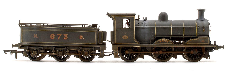 Custom Weathered 'Maude' Class J36 NBR 0-6-0 Steam Locomotive No.673 with TTS Sound