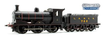LNER Black Class J36 0-6-0 Steam Locomotive No.722 DCC TTS Sound