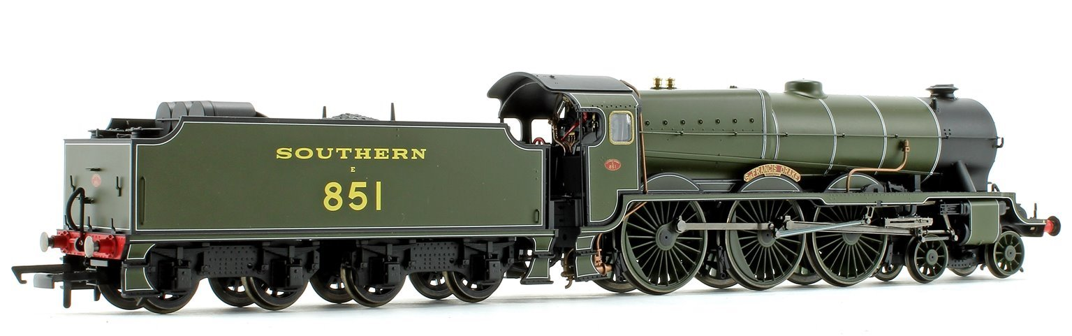 SR 'Sir Francis Drake' Southern Green Lord Nelson Class 4-6-0 Steam Locomotive No.851