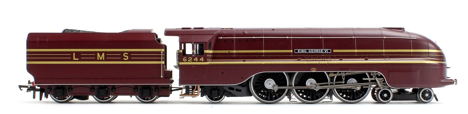'King George VI' LMS Streamlined Princess Coronation Class 4-6-2 Steam Locomotive No.6244