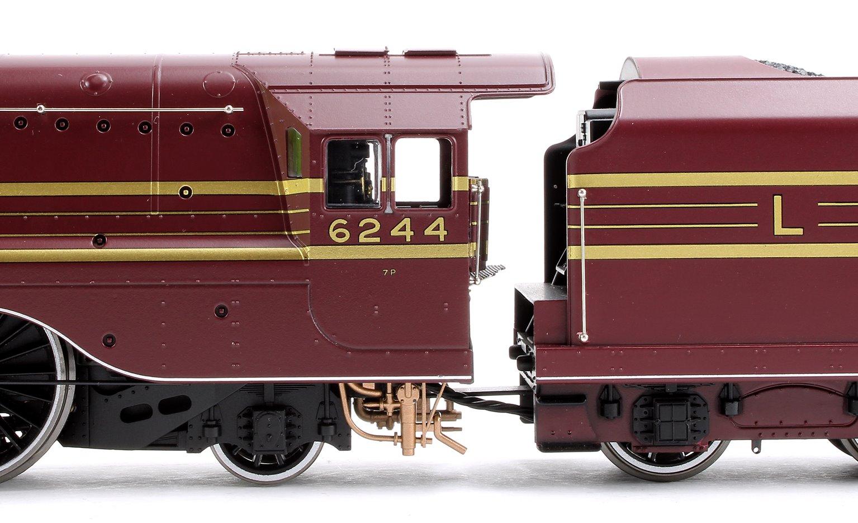 'King George VI' LMS Streamlined Princess Coronation Class 4-6-2 Steam Locomotive No.6244