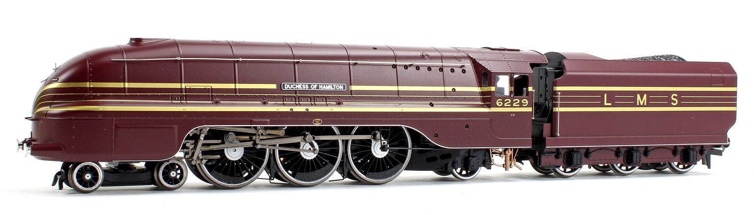 'Duchess of Hamilton' LMS Streamlined Princess Coronation Class 4-6-2 Steam Locomotive No.6229