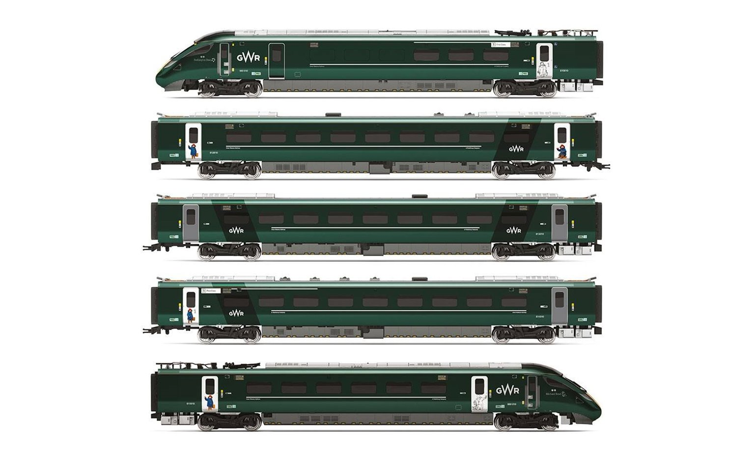 GWR Hitachi IEP Bi-Mode Class 800/0 'Paddington' Livery Five Car Set