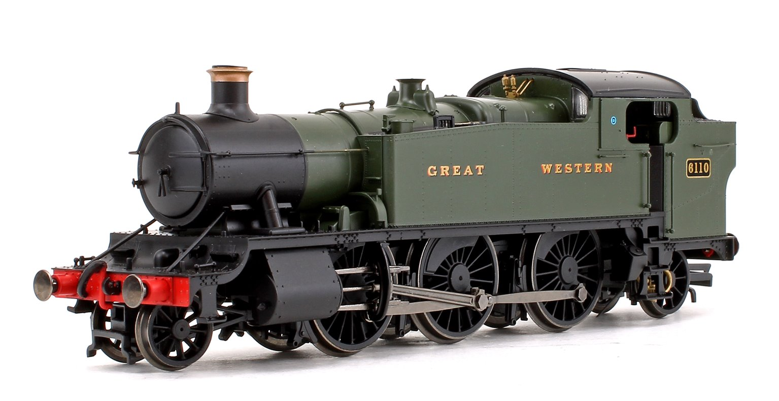 Class 61xx Large Prairie GWR Green 2-6-2 Tank Locomotive No.6110 (DCC Fitted)