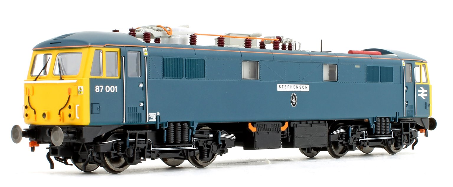 Class 87 001 (dual named) 'Royal Scot' and 'Stephenson' BR Blue Electric Locomotive