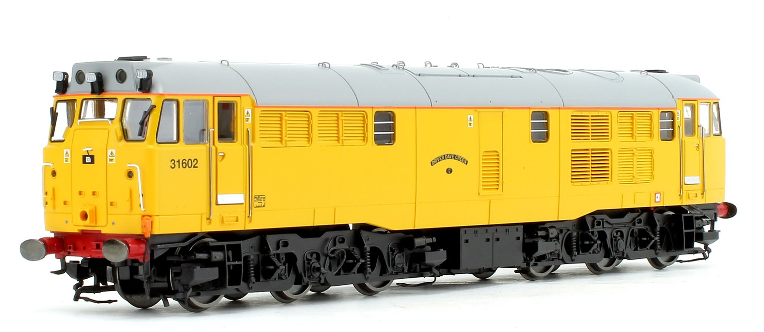 Class 31 602 'Driver Dave Green' Network Rail Yellow A1A-A1A Diesel Locomotive