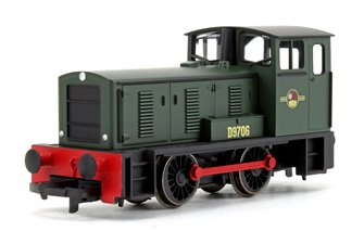 BR Green Bagnall 0-4-0DH Diesel Shunter Locomotive D9706