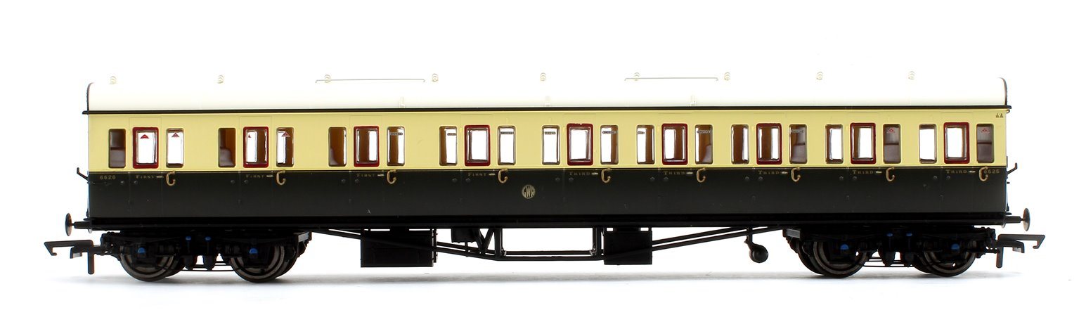 GWR Collett 57' Bow Ended E131 Nine Compartment Composite (Left Hand) 6626