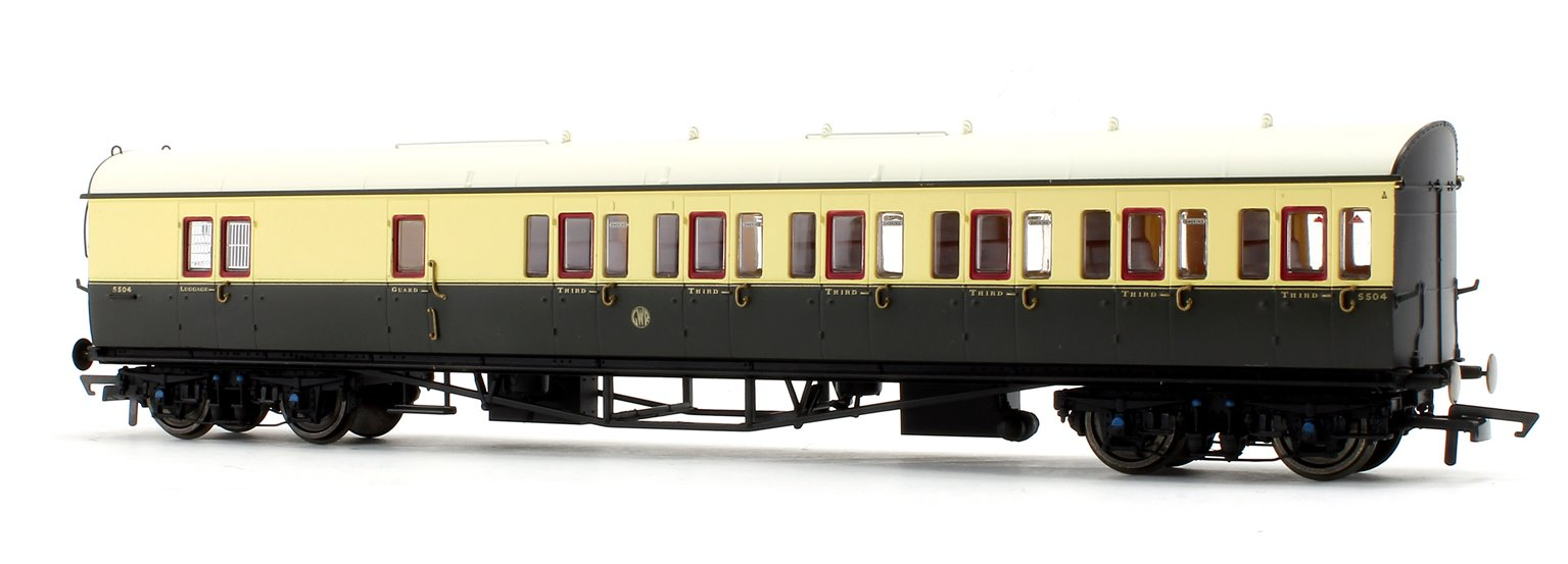 GWR Collett 57' Bow Ended D98 Six Compartment Brake Third (Left Hand) 5503