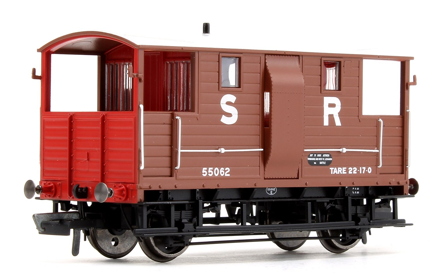 SR (ex LSWR) 20T Diag.1543 Goods Brake Van No.55062