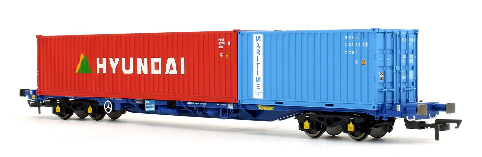 Touax KFA Wagon with 20ft and 40ft Container '93324'