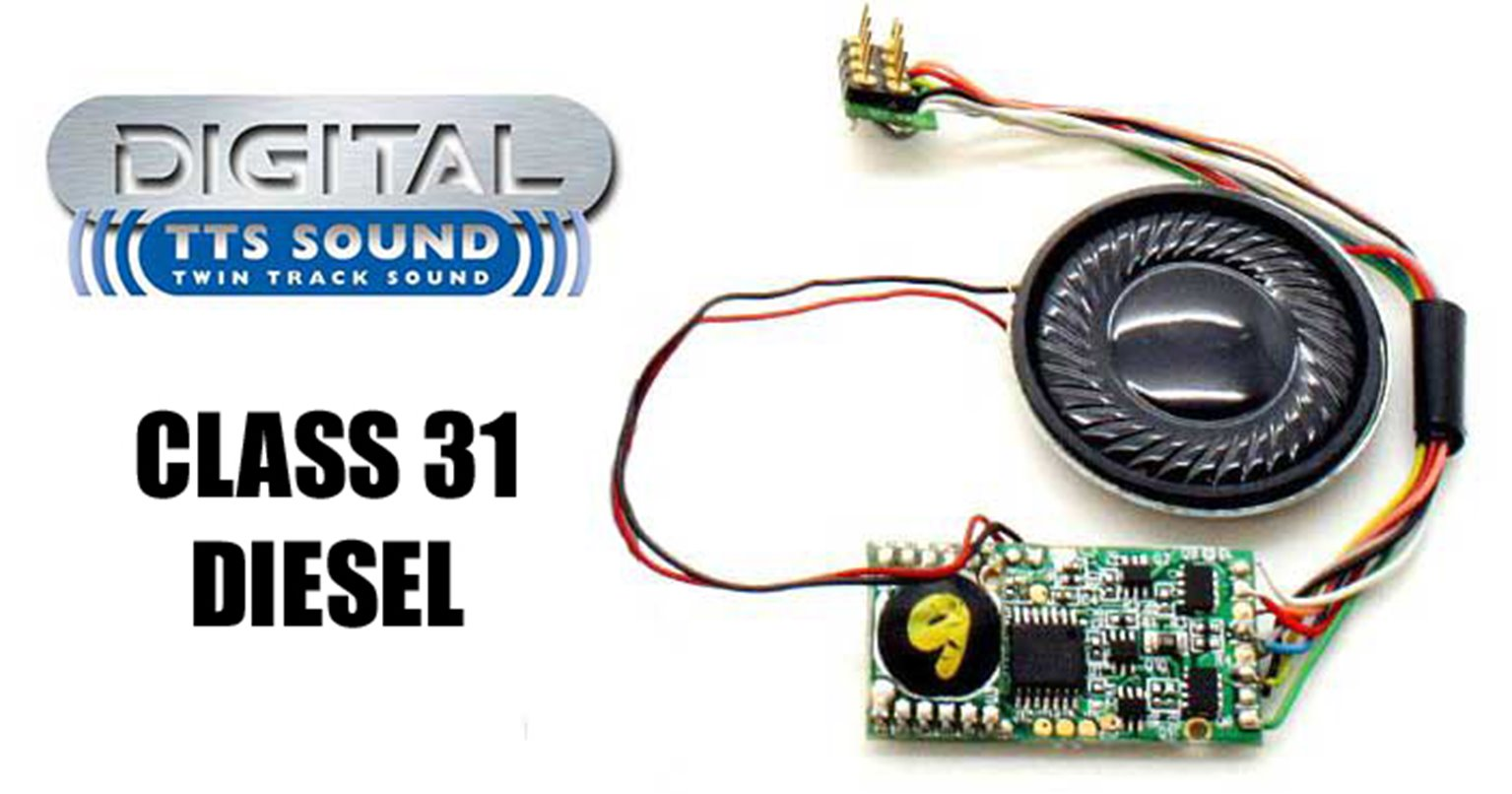 TTS Digital Sound Chip (8pin) with Class 31 Diesel Sounds