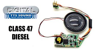 Hornby TTS Digital Sound Chip (8pin) with Class 47 Diesel Sounds
