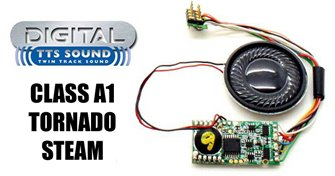 TTS Digital Sound Chip (8pin) with Class A1 Tornado Steam Sounds
