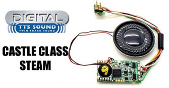 Hornby TTS Digital Sound Chip (8pin) with Castle Class Steam Sounds