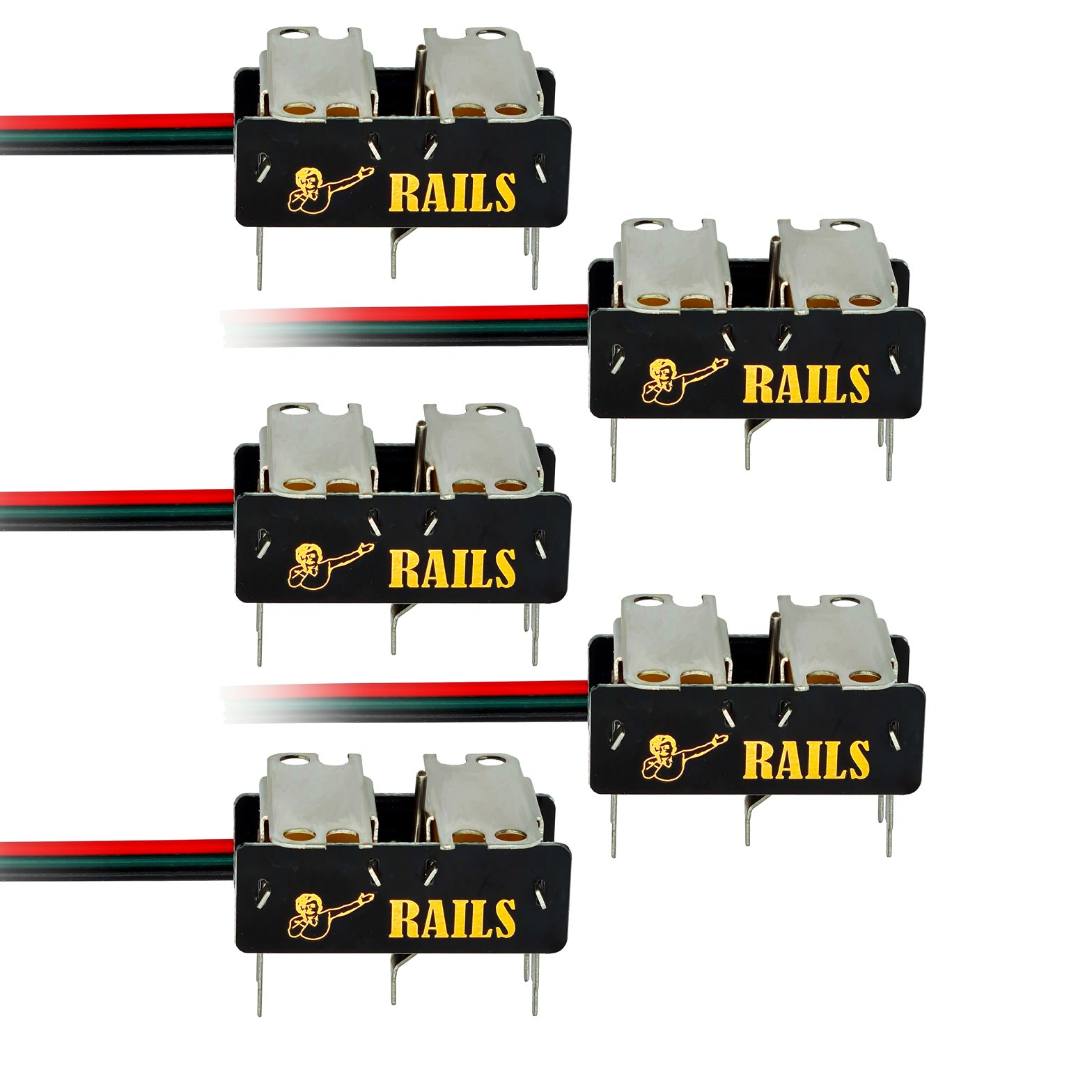 Rails Connect High Efficiency Under-Board Stainless Steel Point Motor (5 Pack)