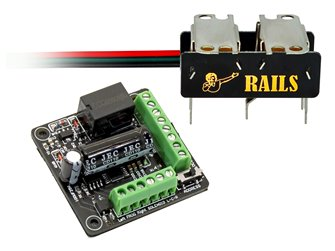 Rails Connect High Efficiency Under-Board Stainless Steel DIGITAL Point Motor (Single Pack)