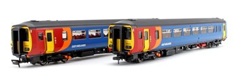 Class 156 405 East Midlands Trains 2 Car DMU Derby-Crewe