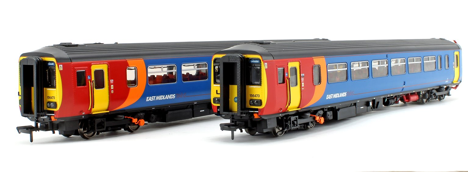 Class 156 473 East Midlands Trains 2 Car DMU Lincoln - Leicester (Via Nottingham)