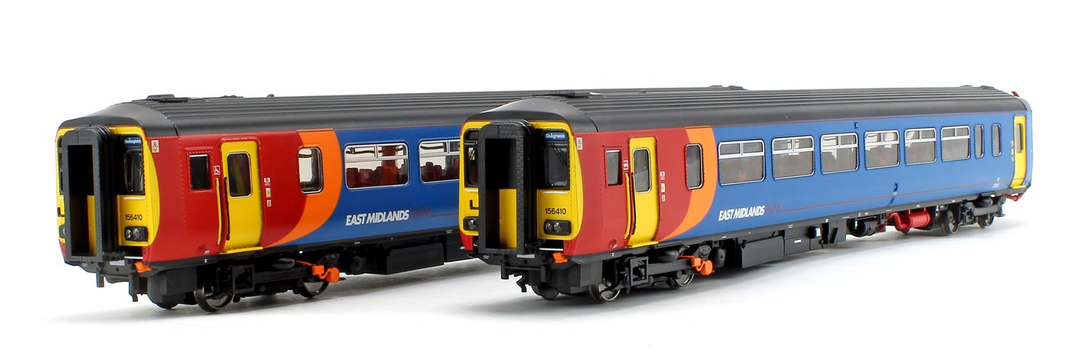 Class 156 410 East Midlands Trains 2 Car DMU Nottingham - Skegness