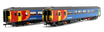 Class 156 406 East Midlands Trains 2 Car DMU Nottingham – Worksop (The Robin Hood Line)