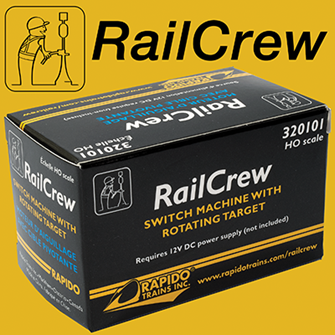 RailCrew HO Switch Machine with Rotating Target