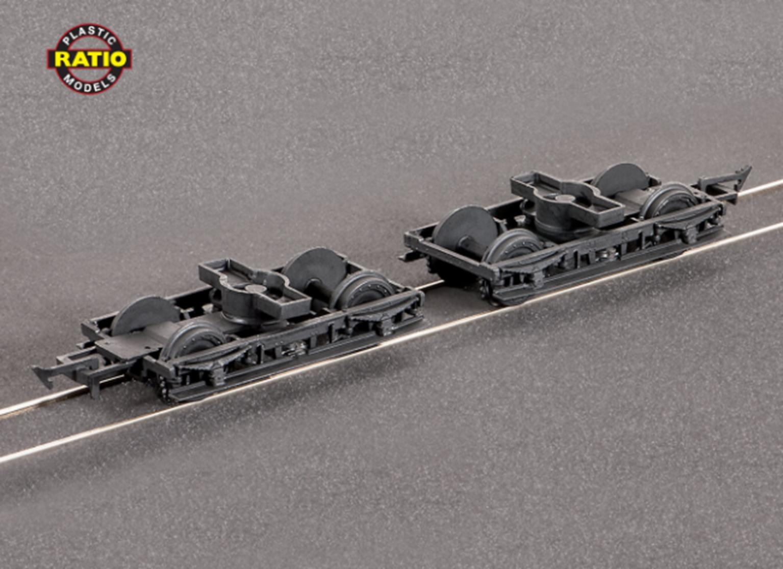 MR 10ft Coach Bogies & Wheels x 2