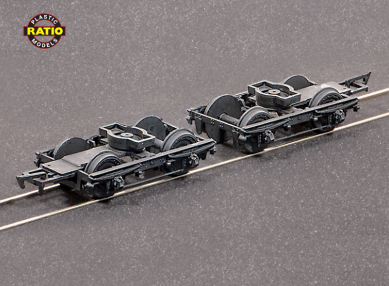 LMS (Ex LNWR) 8ft Coach Bogies & Wheels x 2