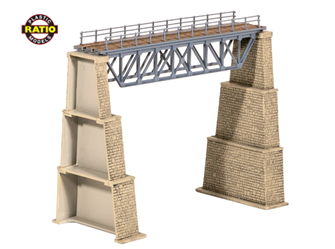 Steel Truss Bridge, with stone piers