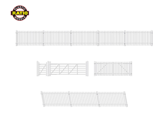 GWR Station Fencing, white (including gates & ramps)