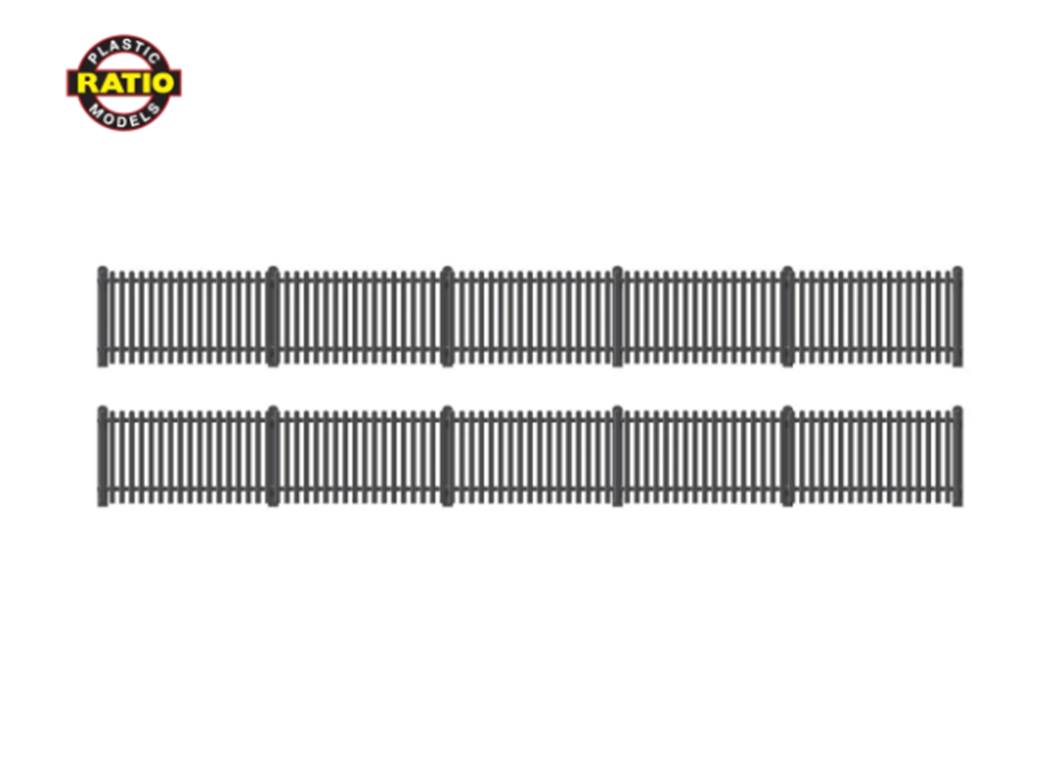 GWR Station Fencing, black (straight only)