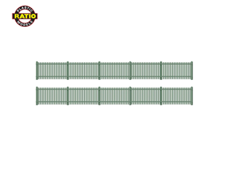 Picket Fencing, green (straight only)