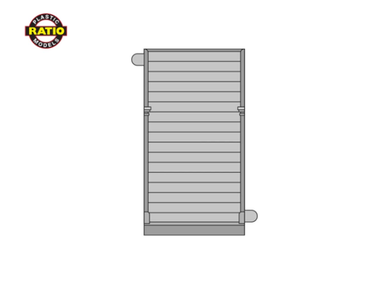 4 x Plain Boarded Panels