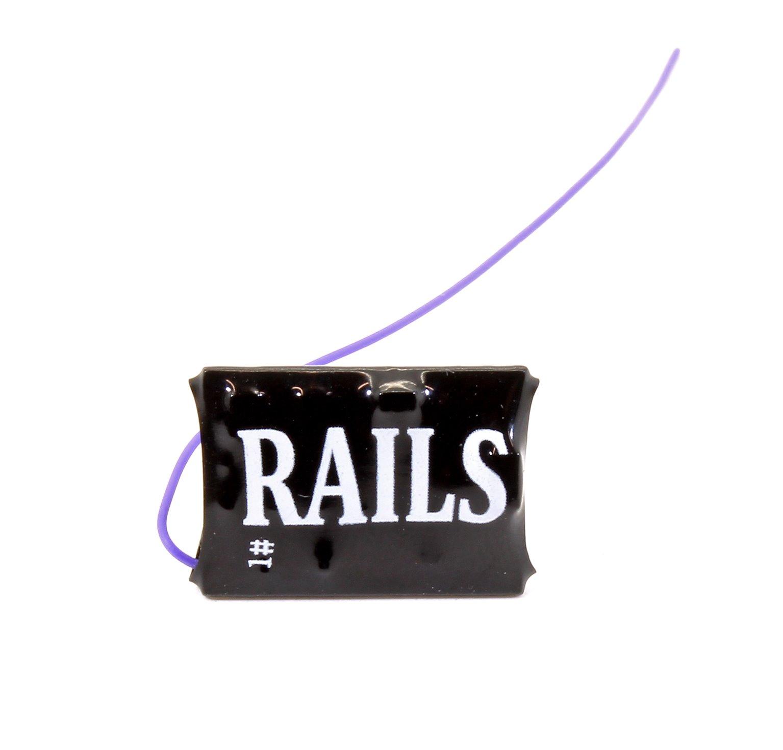 Rails Connect Decoder, 8 Pin Direct 4 Function Nano Decoder