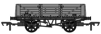 SECR 1349 5 Plank Open Wagon - BR Grey #S14571