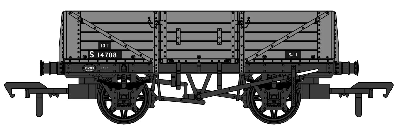 SECR 1349 5 Plank Open Wagon - BR Grey #S14708