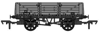 SECR 1347 5 Plank Open Wagon - BR Grey #S19220