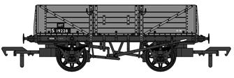 SECR 1347 5 Plank Open Wagon - BR Grey #S19228