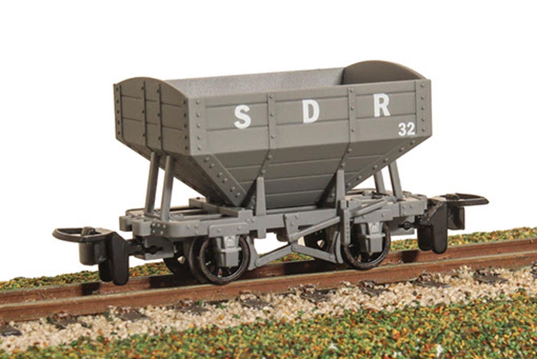 GLT OO-9 Snailbeach District Railway 4-wheel Hopper Wagon - plain grey