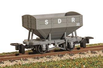 GLT OO-9 Snailbeach District Railway 4-wheel Hopper Wagon - plain brown
