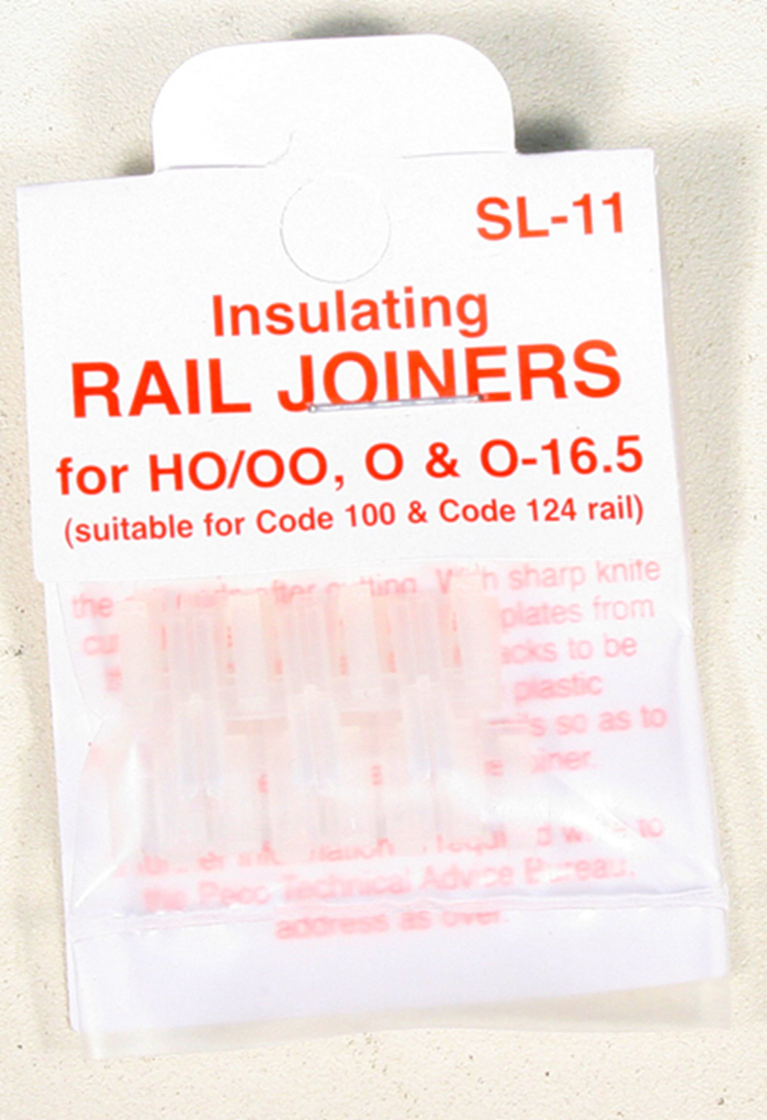 SL11 Pack of 12 insulated rail joiners