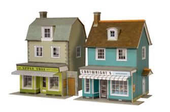 2 Country Town Shops - Card Kit