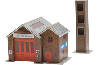 Country Fire Station - Card Kit
