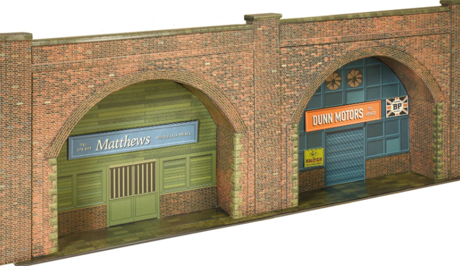 Red Brick Embankment Arches Card Kit
