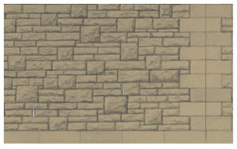Building Papers - Grey Rubble Walling