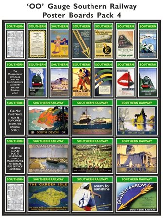 Southern Railway Poster Boards Pack 4