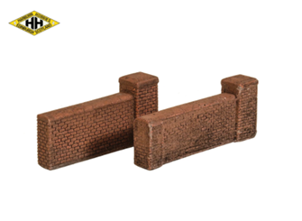 High Brick Wall with gatepost