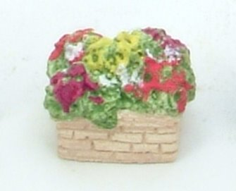 Square Stone Tub with flowering plants